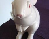 Retired Fitz & Floyd White Rabbit Bunny 1983