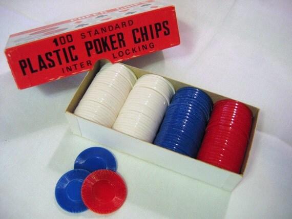 Vintage Poker Chip set by Gallant Knight Inc.