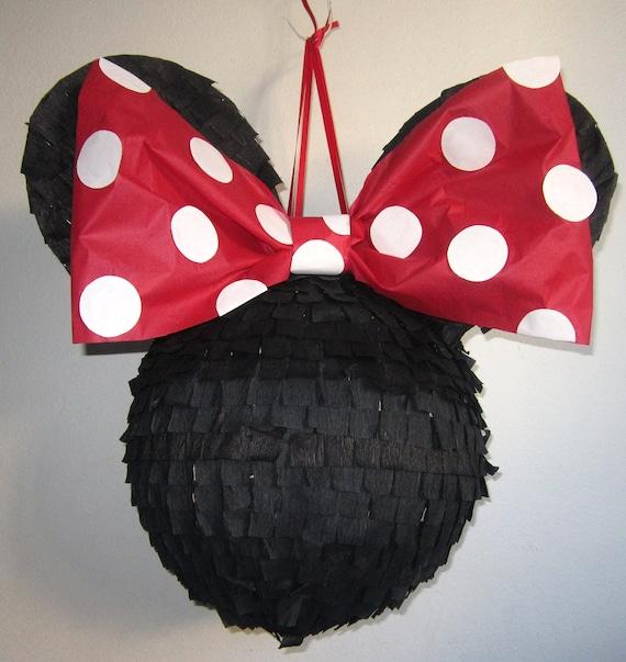 Items similar to Plain Red Polkadot Minnie Pinata on Etsy
