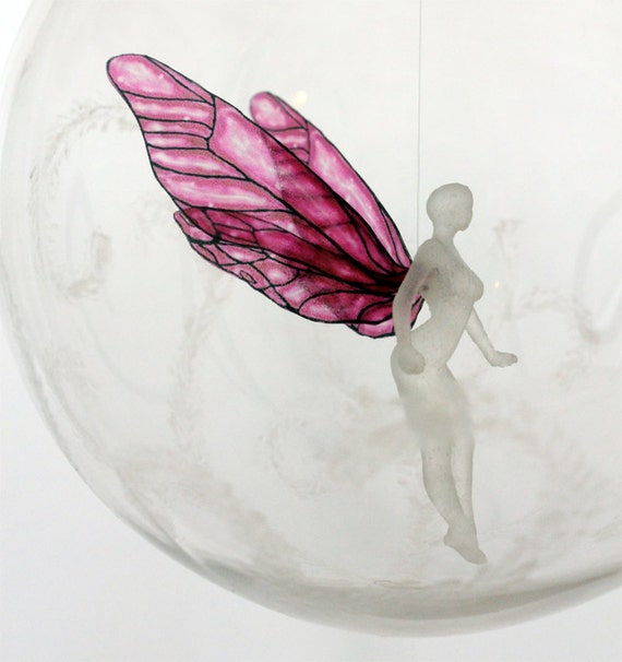 Sugar Plum Fairy - Faerie Holiday or Christmas Ornament MADE TO ORDER