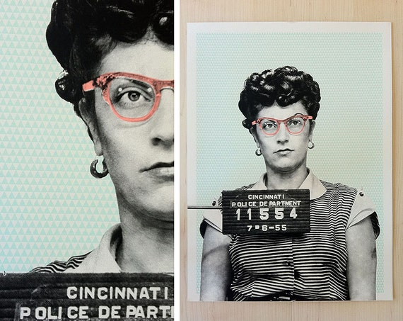 LIMITED EDITION | Screen Print Art |  Mug Shot | 18x24 Poster