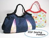 PDF Sewing Pattern - 2 Types of Granny Bag -