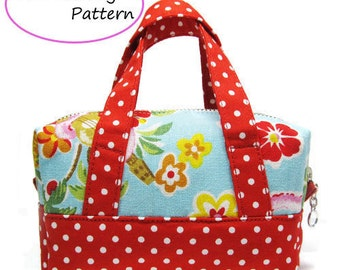 PDF Sewing Pattern -Mini Boston Pouch-(Downloadable)