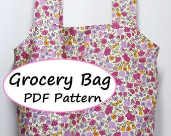PDF Sewing Pattern - Grocery Bag -(Downloadable)