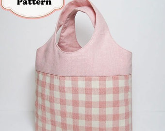 PDF Sewing Pattern - Mini Tote Bag -(Downloadable)