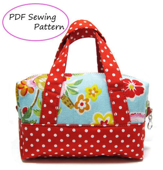 PDF Sewing Pattern -Mini Boston Pouch-