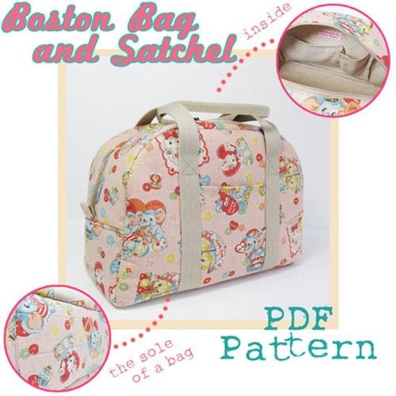 PDF Sewing Pattern -Boston Bag and Satchel-