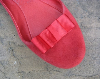 Red Bow Shoe Clips FREE SHIPPING