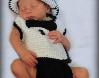 Tuxedo baby photo prop set