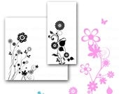 INSTANT DOWNLOAD - 10 digital, Floral OVERLAYS for commercial or personal use.