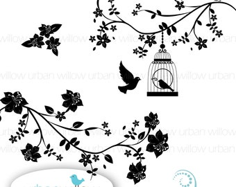 Mid Summer Nights Dream - Clip art set in Png & Jpeg files.