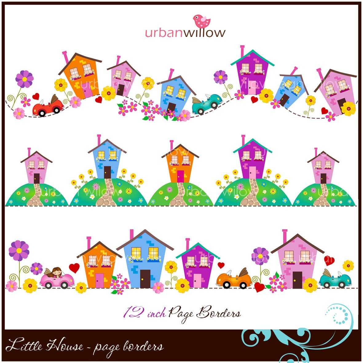 little house clip art page borders jpeg u0026 png files