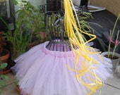 Rapunzel/Tangled- Pink,Purple,Golden ribbon bow baby/child Tutu Set- 2T/3T, 4T/5T