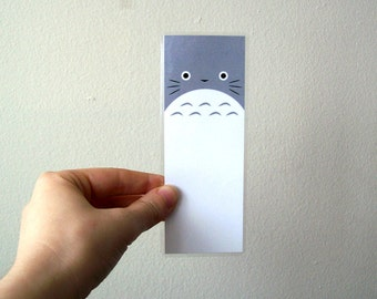 Totoro - Laminated Anime Fan Art Bookmark