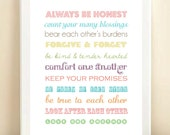 """8x10"""" Household Rules poster print"""