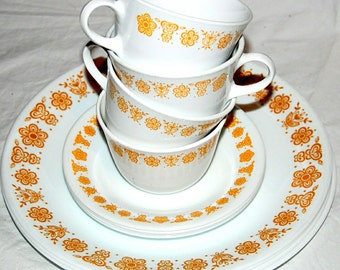 Corelle Butterfly Gold Dishware Set - Service for 4