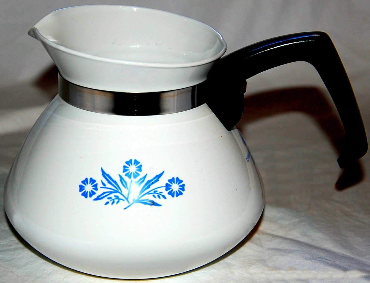 Vintage Corning Ware 6 Cup Coffee Pot By Jeansvintagekitchen