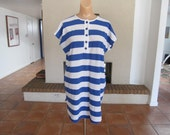 Vintage 80s Long Striped Tunic Shirt