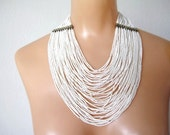 Multi Strand Glass Bead Necklace