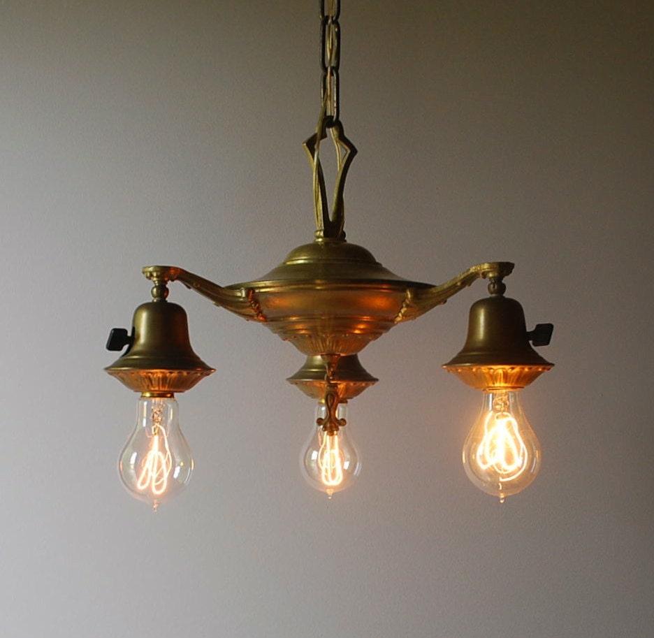 Vintage Revivals Light Fixture: Classical Revival Pan Light Circa 1910-1930 By Route11vintage
