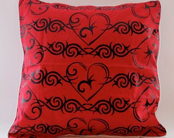 12x12 Barbed Wire Heart Decorative Pillow
