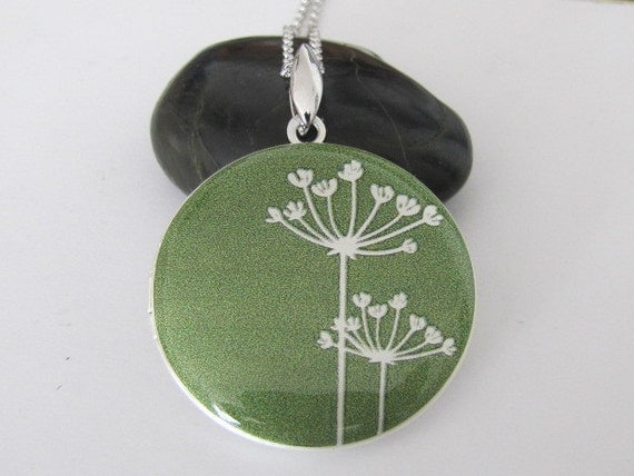 RESERVED for Jen - Dandelions - Silver plated photo Locket