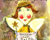 Shopping Fairy (because aliens are funny) FREE shipping