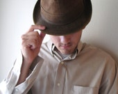 Vintage Wormser Men's Fedora Hat - Rare (TREASURY ITEM)