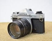 Asahi Pentax K1000 SE SLR Camera with SMC Pentax-M 1:2 55mm Lens - Professionally Inspected