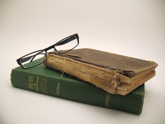 CLEARANCE SALE - 50% OFF - Pair of Antique Math and Science Books