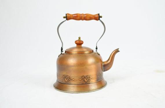 Rosebud Copper Tea Kettle