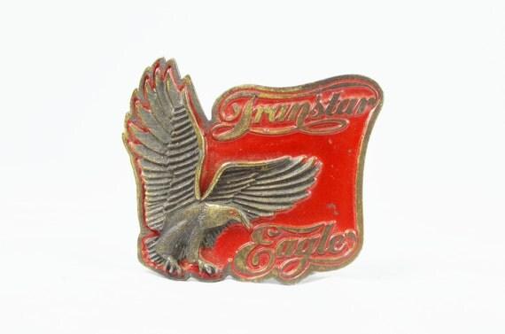 RARE Vintage International Transtar Eagle Belt Buckle