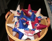 Americana star ornies with basket included