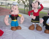 Popeye, Olive Oyl, Wlimpy, Sweet Pea