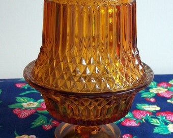 Beautiful Glass Candle Holder     NEW LOW PRICE
