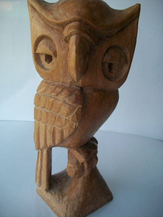 Owl Wooden Hand Carved