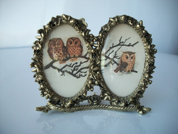 Gold Framed Owls