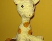 Giraffe Stuffed Animal Crocheted Amigurumi