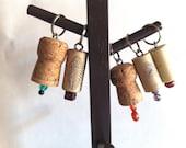Single Bead Cork Key Chains
