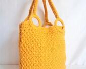 Yellow Mustard Bag ,Every Day, Knitted ,Handmade,handbag,knit,crochet,gift,accessory,purse,clutch,purse,fashion,bag