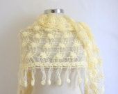 Free Shipping Ivory Cowl Turkish  romantic stole Wedding Cream Shawl Triangle Stole Soft and Chic Ivory Scarf Wrap Stole Poncho ACCESSORIES