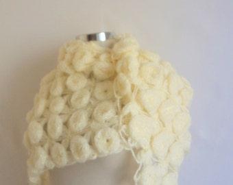 Modelknitting design shawl Bride Rose-Patterned Ivory  Triangle Shawl  )Romantic Shrug, Stole,  Wedding Fashion Bridal Bridesmaid  clothing
