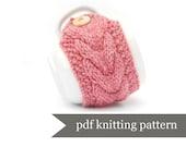 Mug Warmer Knitting Pattern. Cup Cozy Pdf Pattern. Digital Download. Simple Beginners Project Tutorial Wool