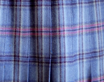 Pendleton purple plaid pleated skirt
