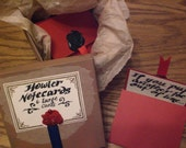 Harry Potter Inspired-  Hand Made Wizard Howler Stationary Set- Shout Like Molly Weasley