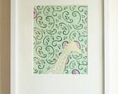 Giraffe Swirl Design Prints