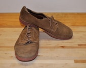 Bass - Men's Brown Leather Shoes - Red Sole - Size 12 M