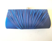 Free Shipping: Blue Evening Clutch, Blue Purse, Blue Wedding, Blue Bridal Clutches Bridesmaid