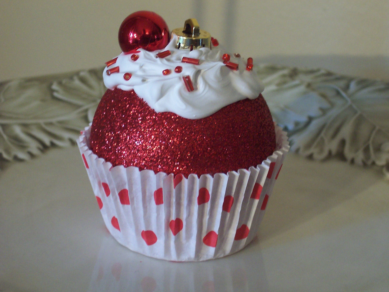 Cupcake Ornaments / Christmas Ornaments by LittlePunkinMunkie