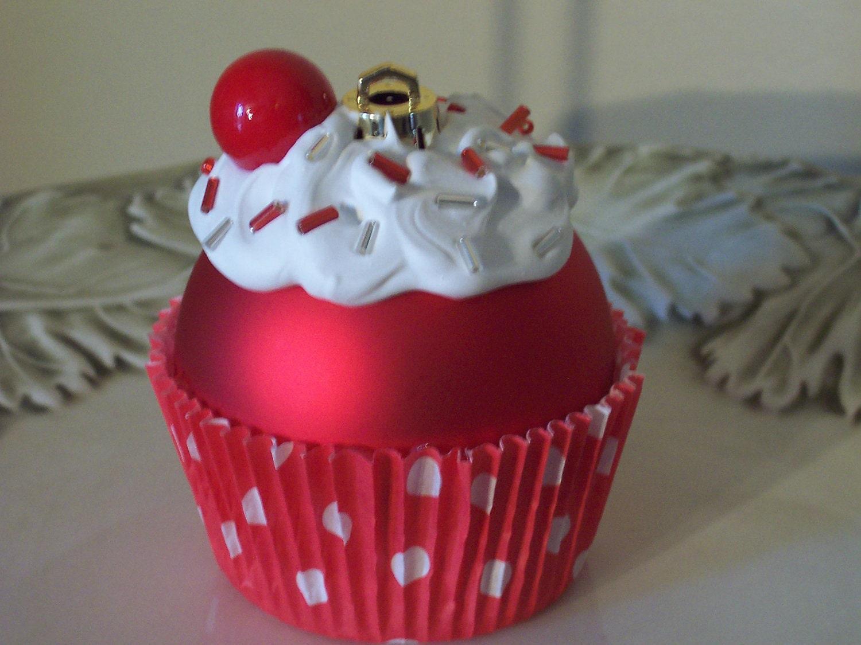 Christmas Ornament / Cupcake Ornament by LittlePunkinMunkie